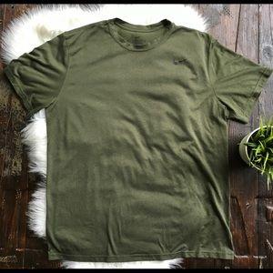 NIKE Dri Fit SS Shirt Olive Green Men's XL EUC